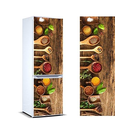 Oedim Vinyl Stickers Gewürze für Kühlschrank. | Kühlschrank Aufkleber | Verschiedene Maße 185x60cm| Klebstoffbeständig und einfache Anwendung | Stilvoller Design-dekorativer