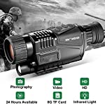 8x40 Infrared Night Vision Monocular HD Digital Camera with Video Playback USB Output Function for Hunting and Wildlife 200m in Darkness 8G TFCard