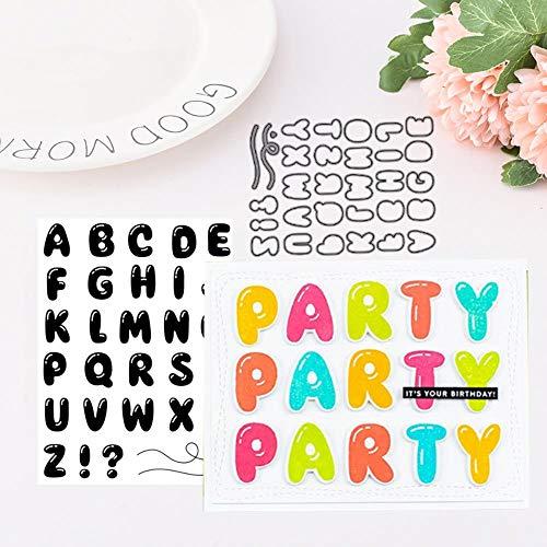 24 Letters Metaal snijden Dies en Stempel voor Scrapbooking Praktijk Hands-on DIY Foto Album Craft Card Decoratie Dies only stamp Als afbeelding