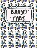 Banjo Tabs: Cuaderno De Tablatura Para Banjo | Banjo Taccuino | Escriba su propia música de la tablaturas de la Banjo! (Partituras de papel en blanco para canciones y acordes de Banjo)
