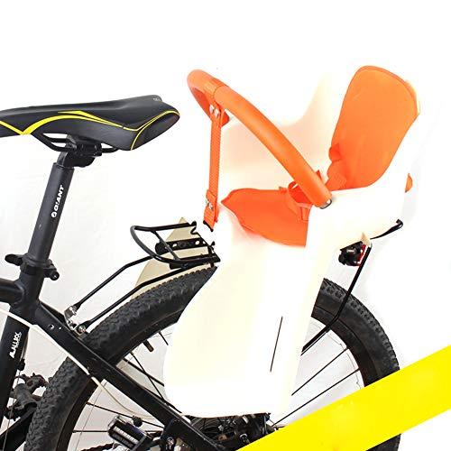 JTYX Bambini Bambini Seggiolini per Biciclette Sedile Posteriore Sedia con Cintura di Sicurezza Spessore Altezza portanza Fino a 50 kg,Beige,48X36CM