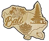 Printtoo Souvenir en Bois Carte de Bali Grave Refrigerateur Aimant Collectibles Cadeau