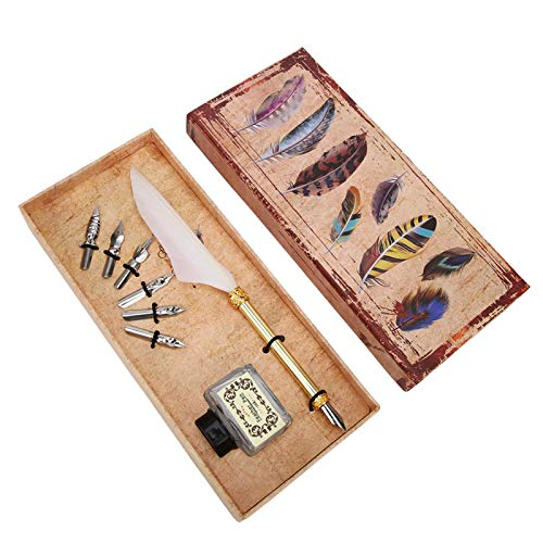 Conveniente para usar caligrafía pluma pluma pluma pluma kit de Acción de Gracias cumpleaños para Navidad (blanco)