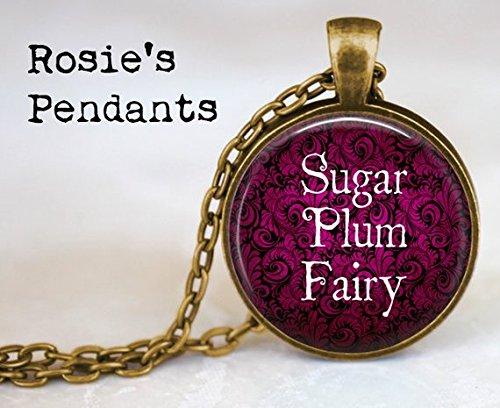 bab Sugar Plum Fairy – Nussknacker Ballett – Balletttänzerin – Geschenk für Tänzerin – Sugar Plum Fairy Anhänger Halskette