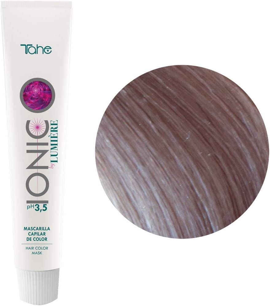 Tahe Ionic Lumière Mascarilla Capilar/Mascarilla de Color de PH de 3,5 Ácido, sin Parebenos. Altamente Nutriente e Hidratante, Azul, 100 ml