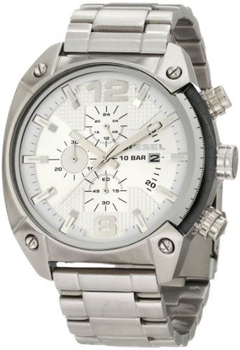 Diesel Herren Chronograph Quarz Uhr mit Edelstahl Armband DZ4203