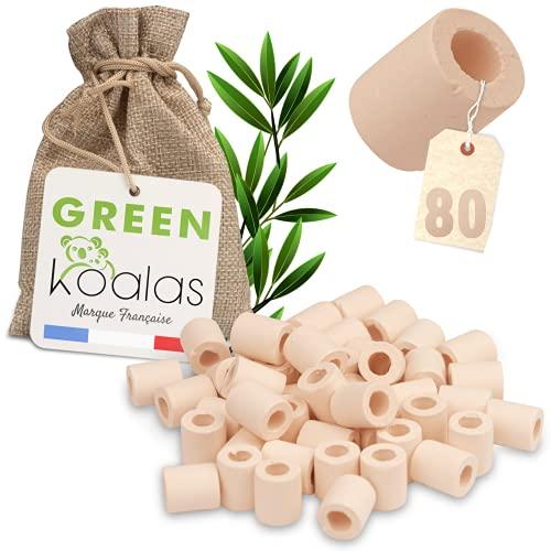 GREEN KOALAS X80 PINK EM Cuentas de cerámica con microorganismos eficientes Cuentas de purificación natural para la filtración del agua Decantador de la fuente de agua del grifo Filtro de la máquina