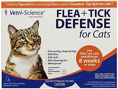 Vetri-Science 3-Dose Flea and Tick Defense for Cats
