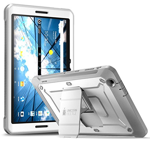 AT&T Primetime Tablet Case, SUPCASE [Heavy Duty] [Unicorn Beetle PRO Series] Full-Body Rugged Protective Case with Built-in Screen Protector for AT&T/ZTE K92 Primetime 2017 (White)