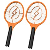 Bug Zapper, 2 Pack Indoor & Outdoor Electric Fly Swatter, Battery Powered (2xAA) Mosquito Killer Racket for Home,...