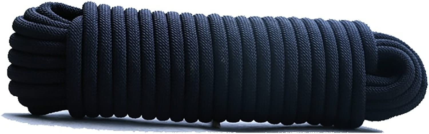 Ropes Climbing Rope,Black Diameter 10mm 12mm 14mm 16mm Rock Climbing Rope,10M, 15M, 20M, 30M, Outdoor Explore Escape Rescue Rope,High Strength Nylon Rope Safety Rope