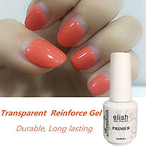 Frenshion 15ml Soak-off UV LED Gel Nail Polish Transparente Refuerza Gel para Durable Larga Duración Nail Art