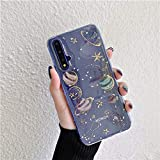 WGOUT Coque Planet pour Huawei P30 Lite P40 P20 Pro P10 Plus Honor 10 9X 9 Mate 20 ITE P Smart Z Y9...