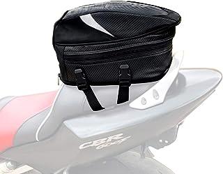 JFG Bolsas de Asiento para Motocicleta, Impermeable, Bolsa de Equipaje Deportivo Multifuncional de Piel sintética para Casco de Motocicleta, Mochila de equitación, 18,5 litros