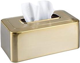 mDesign Modern Metal Tissue Box Cover for Disposable Paper Facial Tissues, Rectangular Holder for Storage on Bathroom Vani...