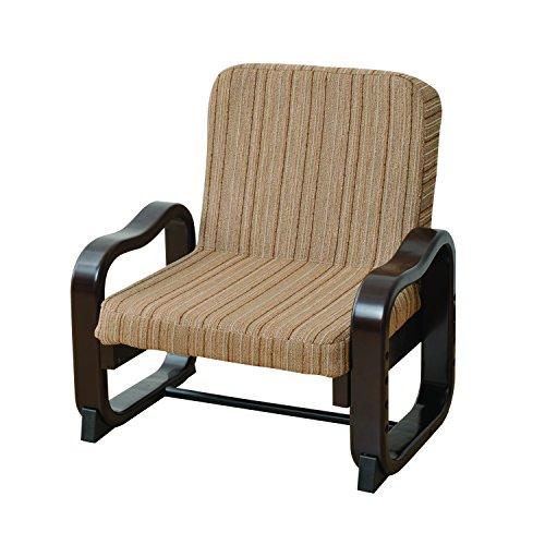 山善(YAMAZEN) 立ち上がり楽々座椅子(ハイバック) ストライプ SKC-56H(VS1)
