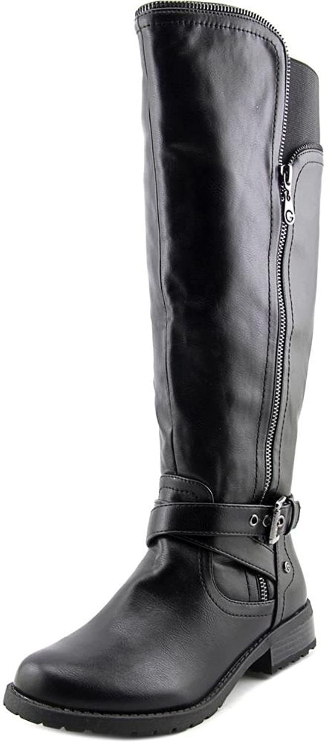 G By Guess Hailee Women Brown Knee High Boot, Black, Size 8.5
