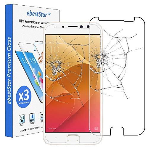 ebestStar - kompatibel mit Asus Zenfone 4 Selfie Pro Panzerglas x3 ZD552KL Schutzfolie Glas, Schutzglas Bildschirmschutz, Bildschirmschutzfolie 9H gehärtes Glas [Phone: 154 x 74.8 x 6.9mm, 5.5'']