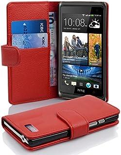 Fodral kompatibelt med HTC Desire 600 i INFERNO RÖD - Skyddsfodral av strukturerat syntetiskt Läder med Stativfunktion och...