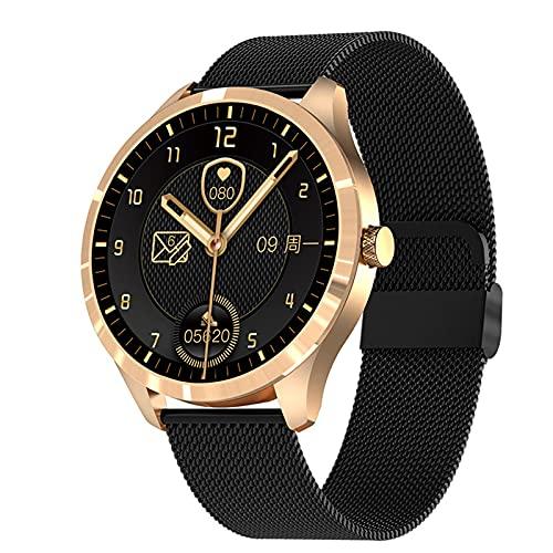 YDK Q9l Sports Smart Watch, Pantalla Táctil De Los Hombres Rastreador De Fitness Modo De Acción Múltiple Presión Arterial Tasa del Corazón Reloj Inteligente para Android iOS,E