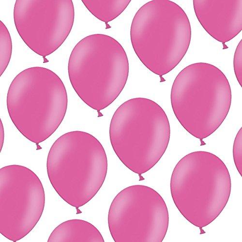 Kleenes Traumhandel 50 Luftballons - 23 cm - Pastell leuchtendes Pink/Rosa Hot Pink - Formstabil