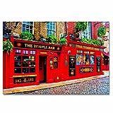 Irlanda Dublín Temple Bar Rompecabezas para Adultos, 300 Piezas, Rompecabezas de Madera para niños, Regalo de Viaje, Recuerdo, 16.5 × 12 Pulgadas