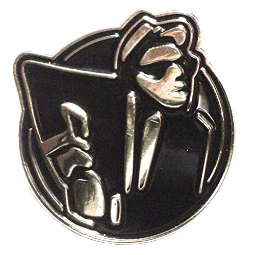 Mainly Metal  Pin esmaltado Ska Man 2-Tone Dance Black & Chrome (broche de 28 mm) scooter bicolor