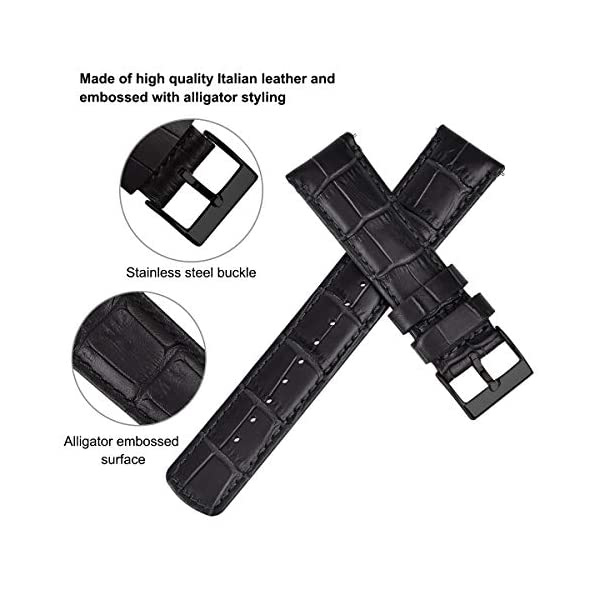 Ritche Quick Release Leather Watch Bands Genuine Leather Watch Strap 18mm, 20mm or 22mm for Men and Women