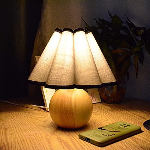 YUXIwang Luces Xianfan Vintage Japonés Lámpara de Mesa de Madera Sucia Compatible con Sala de Estar con Tela Retro Lámpara de Trabajo Lámparas de Escritorio Luz de Noche