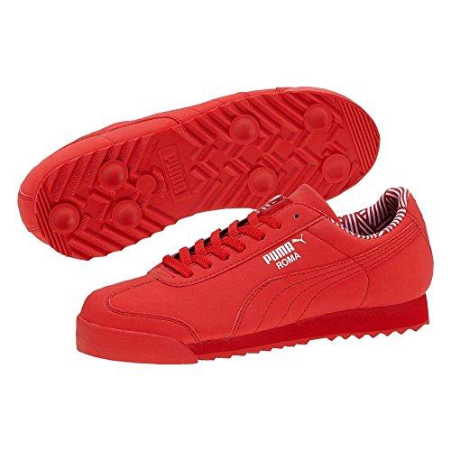 PUMA Kids Girl's Roma NM (Little Kid/Big Kid) High Risk Red/White Athletic Shoe