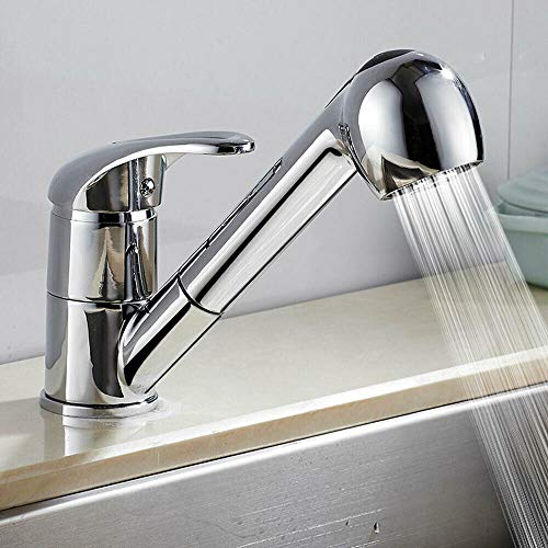 True Face Kitchen Sink Taps Single Lever Pull Out Sprayer Cold and Hot...