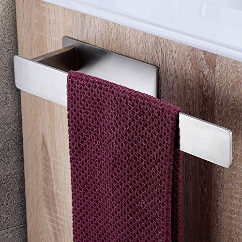 Deprik Handtuchhalter ohne Bohren, Badetuchhalter Selbstklebend Handtuchstange für Badezimmer, Edelstahl