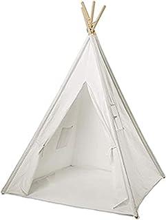 ZIXUAL Presenning skuggduk regnsäker duk bomullsduk barn tipi-tält inomhus utomhus lektält hopfällbart tält för flickor oc...