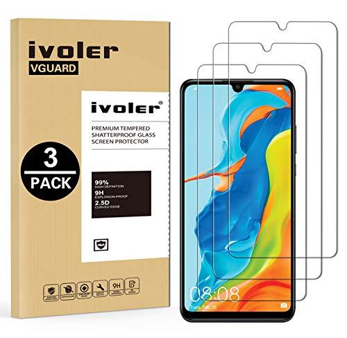 [3 Pack] VGUARD Pellicola Vetro Temperato per Huawei P30 Lite / Huawei P30 Lite New Edition 2020 / Honor 20S, Pellicola Protettiva, Protezione per Schermo