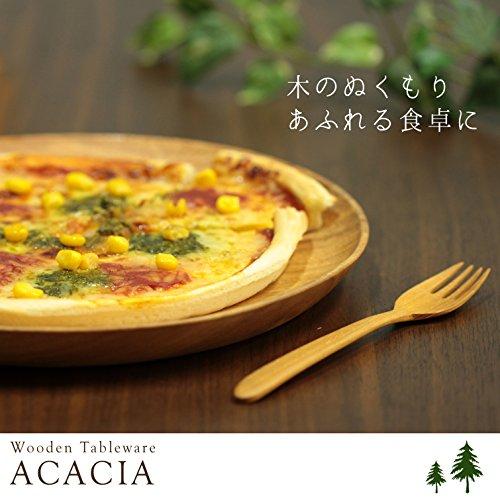 不二貿易レクタングルトレーXLサイズ幅32cmブラウンアカシア天然木割れにくい軽量木製食器30146