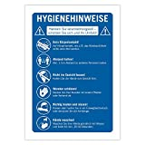 """5 Stück Schild Abstand halten Corona""""Hygiene Regeln"""" WC Hinweisschild Einzelhandel, Supermarkt Gastronomie A4"""