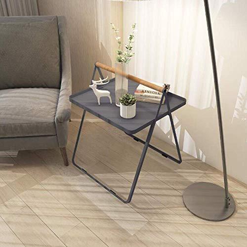TV-meubel telefoontafel, salontafel, salontafel, eiken, tafel, ijzer, kunst, tafel, bijzettafel, salontafel, draagbaar, werktafel, zwart MK grijs.