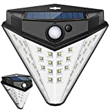 Nacinic Solar Lights Outdoor Garden,[Super Bright 32 LED] Security Wall Lights Wireless 2200mAh with Motion Sensor Solar Powered Waterproof 3 Modes (2 Pack)
