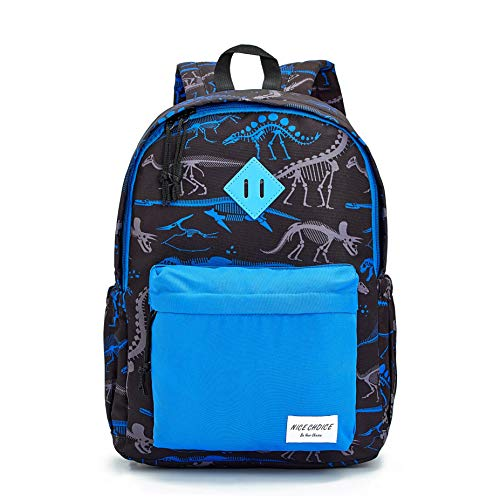 Preschool Backpack Little Kid Toddler Kindergarten School Backpacks for Boys and Girls with Chest Strap (Dinosaur Blue)