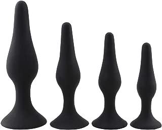 a-YUEYUE 4Pcs Silicone Amal Beads Plug Set Toys for Women Beginner Training Kits, 2 Colors Optional