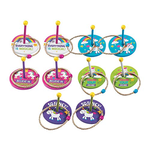 Fun Express - Unicorn Ring Toss Game - Toys - Games - Misc Games - 10 Pieces