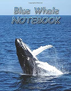 Blue Whale NOTEBOOK: notebooks and journals 110 pages (8.5