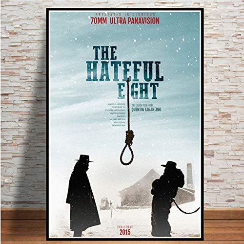 JIUJIUJIU Film The Hateful Eight Canvas Poster und Drucke Kunst Gemälde Wandbilder für Wohnzimmer Home Decor ohne gerahmt 50 * 70cm