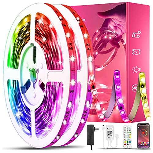 100ft Led Lights USTO Music Sync Color Changing Led Strip Lights Led Lights Strip with Phone App Control and Remote Led Lights for Bedroom Living Room Party Home Decoration