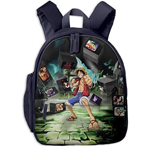 HuangYongHongPODFPO One Piece Monkey D Luffy Kids Backpacks School Bags for Boys & Girls Pre School Bag Cute Cartoon Backpack Sized for Kindergarten, Preschool