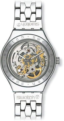 Swatch Reloj Analógico Automático para Hombre con Correa de Acero Inoxidable – YAS100G