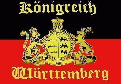 Yantec Flagge Fahne Königreich Württemberg 90 * 150 cm