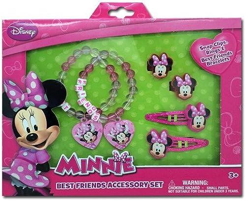 ¡no ser extrañado! Minnie Minnie Minnie Mouse Box Set with Snap Clips, Beaded Charms Bracelets, & Rings by Minnie Mouse  venta con alto descuento