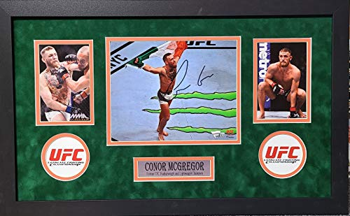 Conor McGregor Signed Autograph UFC Custom Framed 8x10 Photo Suede Matted Fanatics Authentic Certified