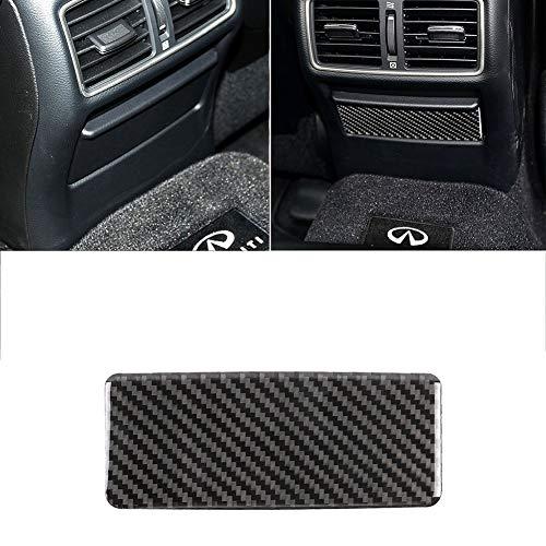 Marco interior de fibra de carbono para coche Asiento de fibra de carbono posterior del coche Cenicero panel de la decoración de interiores Modificado Etiqueta, conveniente for el Infiniti Q50 Q60
